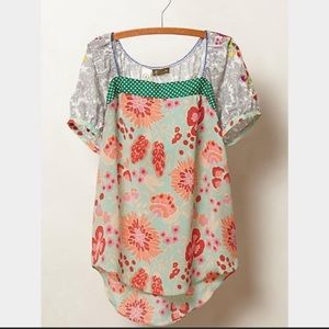 Anthropologie Archive Collection Embroidered Top